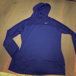 Nike Dri-fit hooded long sleeve shirt